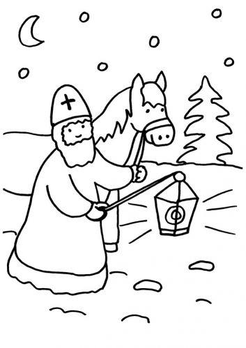 Kostenlose Malvorlage Sankt Martin Sankt Martin mit Pferd
