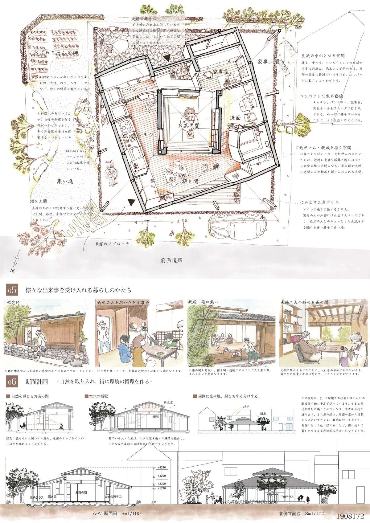 受賞作品 木の家設計グランプリ プレゼンテーション ボード