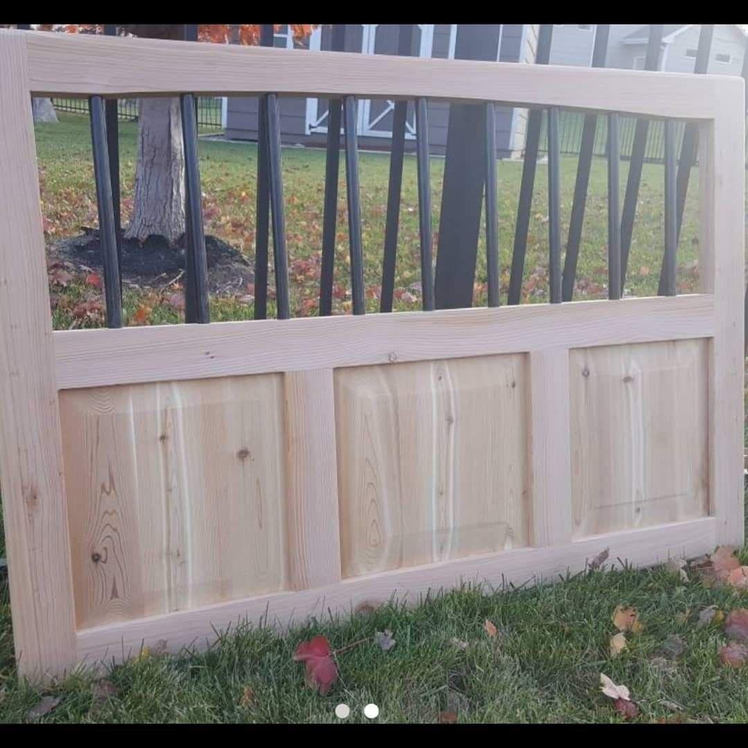 Cedar triple panel diy dog gate custom gates pet gate