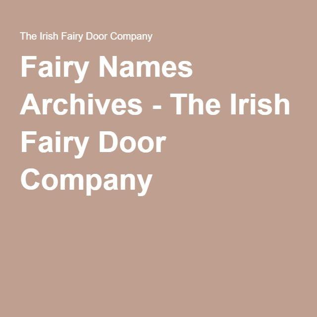 Fairy Names Archives - The Irish Fairy Door Company