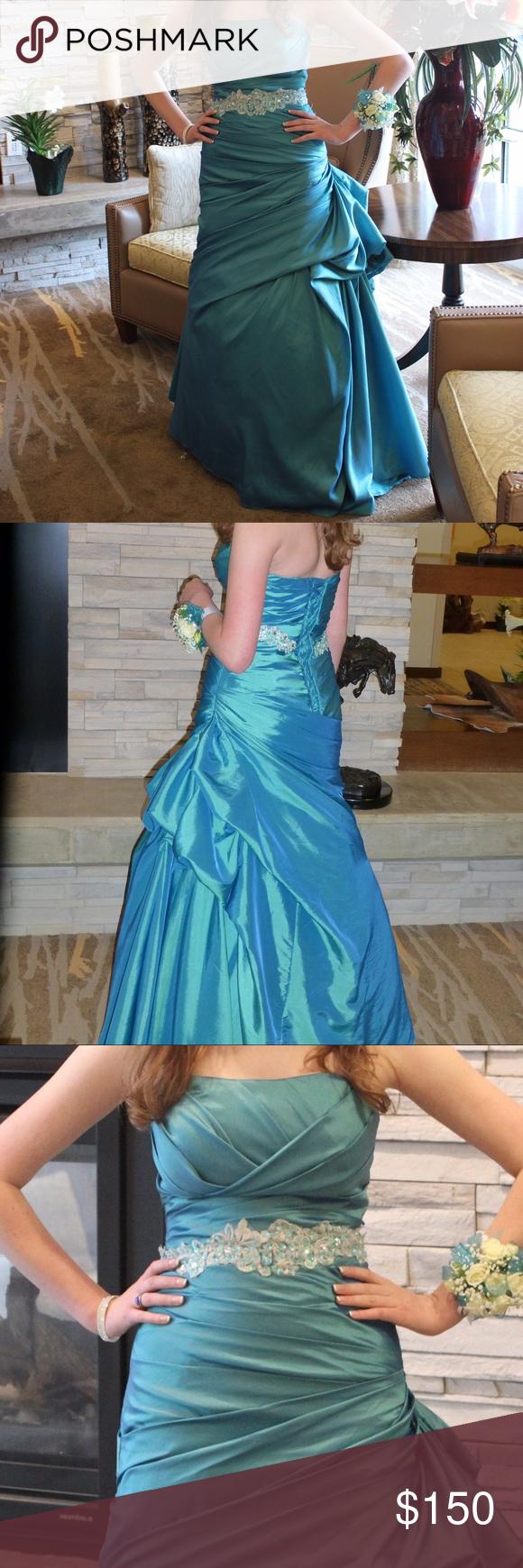 Selling this Teal mermaid prom dress on Poshmark! My username is: alannskywalker. #shopmycloset #poshmark #fashion #shopping #style #forsale #prom #Dresses & Skirts