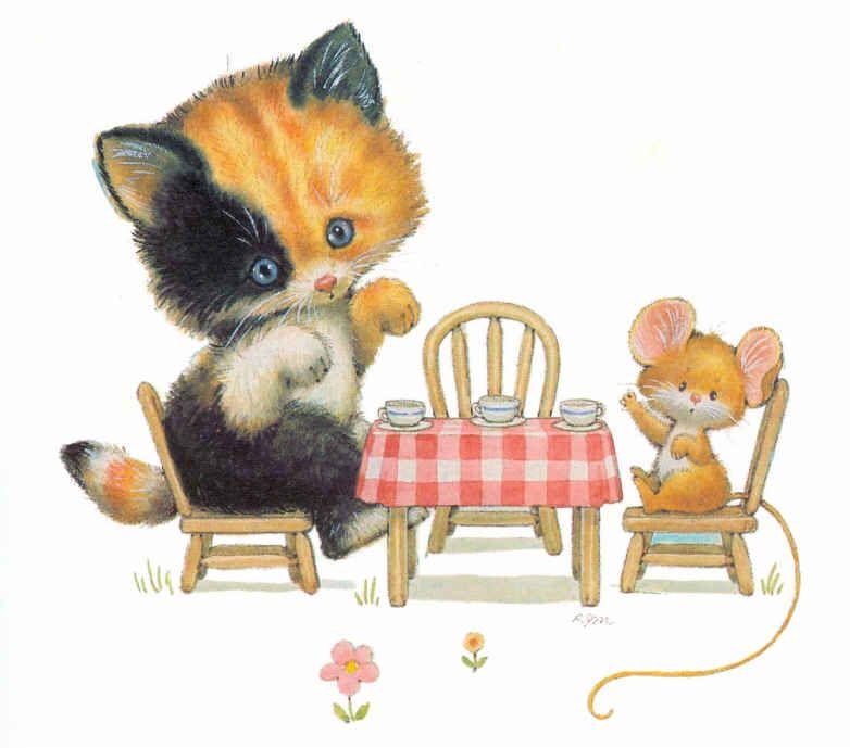 Gato Y Ratón Http Www Silvitablanco Com Ar Ruth Morehead Ruth Morehead Htm Cat Art Illustration Cat Art Cat Artwork