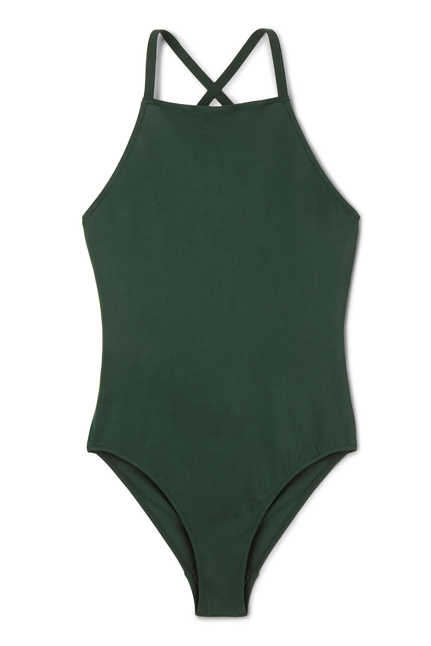fe6320bf11e38 Weekday image 1 of Atlantis Swimsuit in Green Bluish Dark | Swimwear ...
