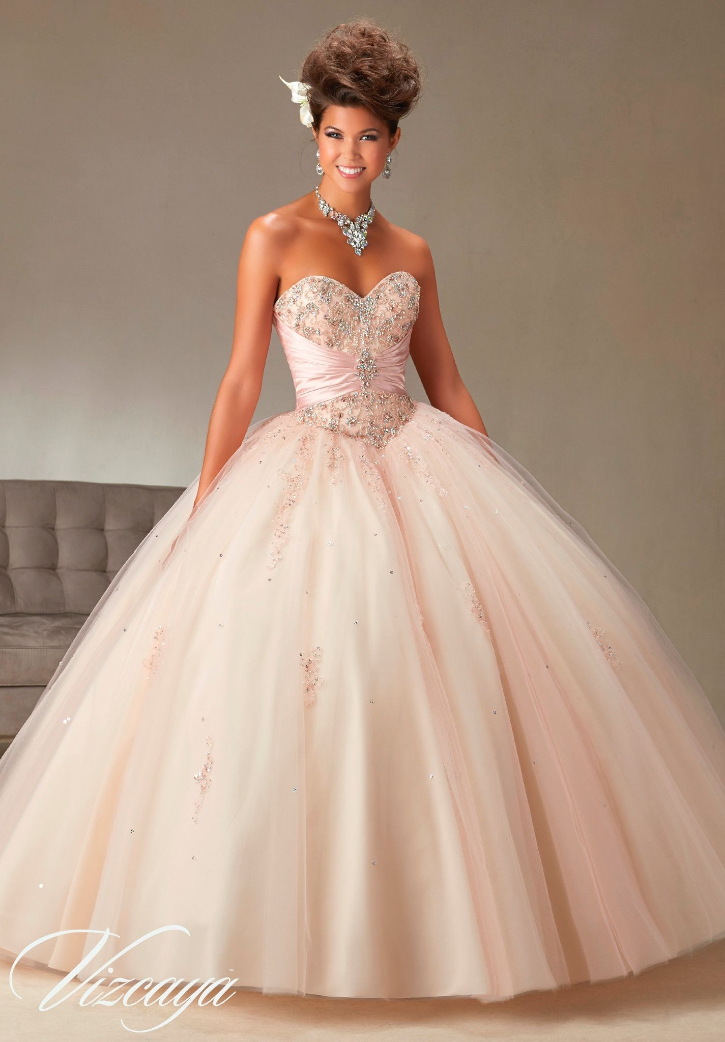 bc86958394 Mori Lee Vizcaya Quinceanera Dress Style 89069 is made for girls who want  to look like a beautiful Princess on her Sweet 15. Made out of two-tone  satin and ...