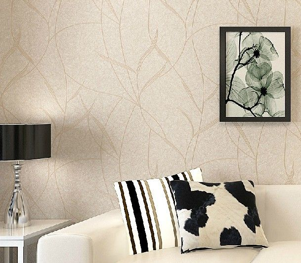 Barato folha pure papel de parede listrado moderno n o for Papel pared moderno