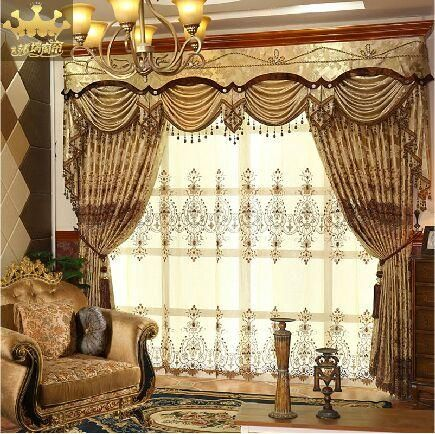 European Luxury Curtain Soluble Embroidery Curtain Semishade Interesting Luxury Curtains For Living Room Inspiration
