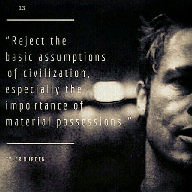 Peace Tylerdurden Cinema Citation Et Phrase