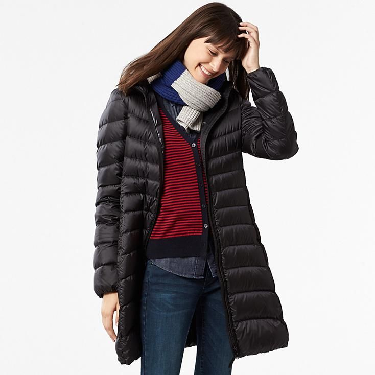 Women Ultra Light Down Hooded Coat Uniqlo Lb