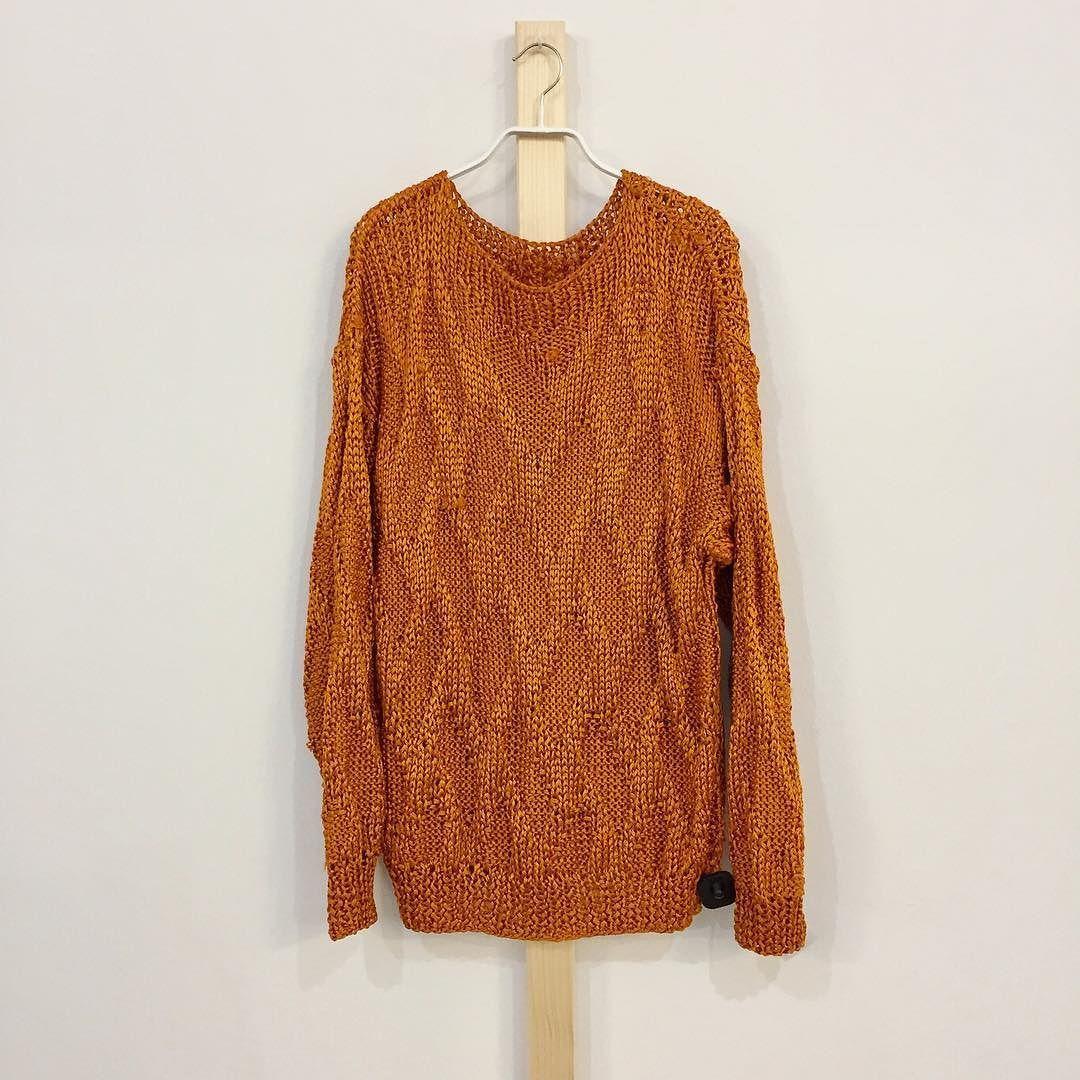 shop: 21- Vintage Burnt Orange Oversized Sweater Size M/L ...