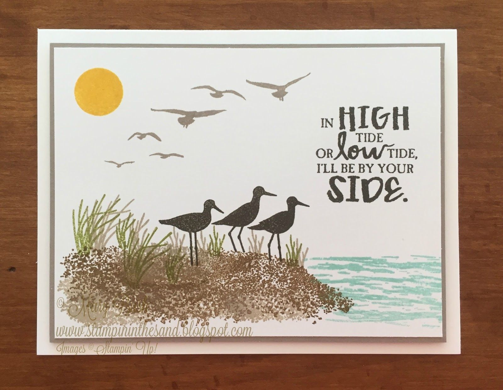Card: High Tide Seashore #stampin#39;up!cards