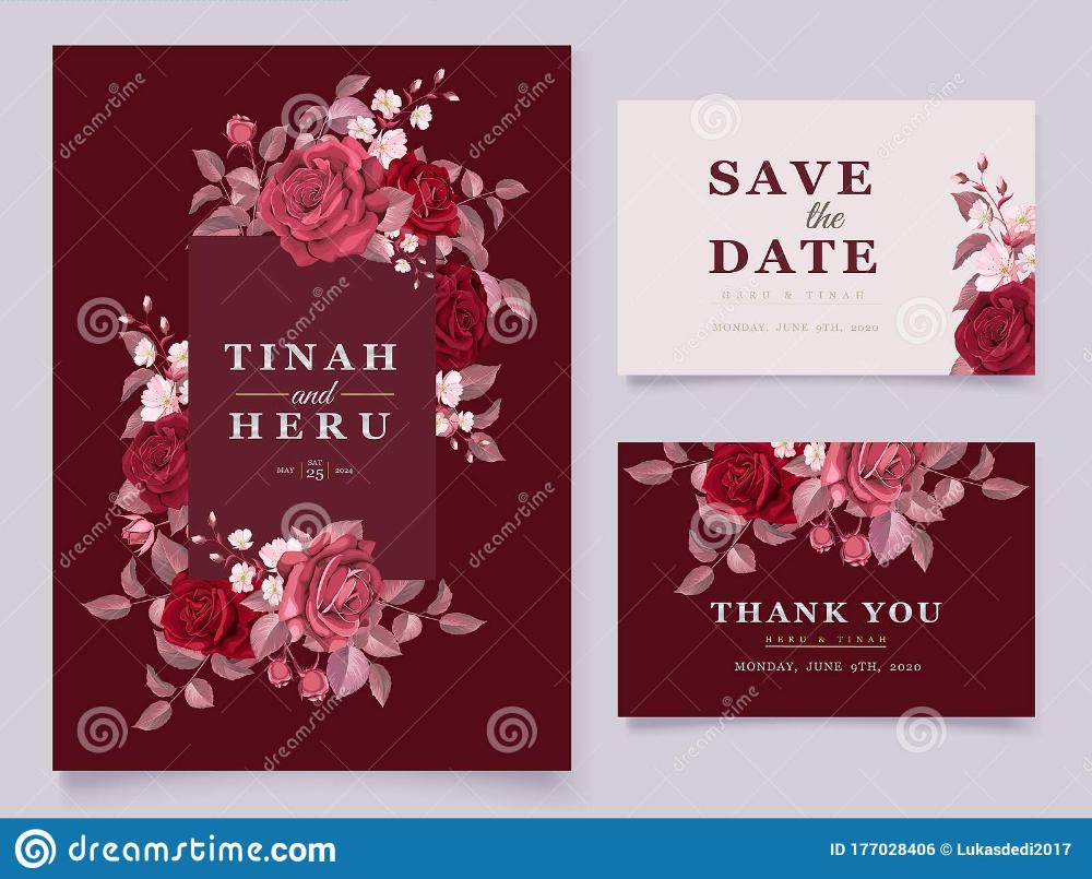 Beautiful Floral Wedding Invitation Card Template Stock Vector Ill Floral Wedding Invitations Wedding Invitation Card Template Floral Wedding Invitation Card