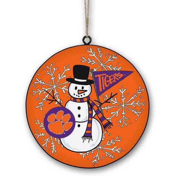 Clemson Christmas Tree: Clemson Tigers Metal Snowman Ornament #ClemsonTigers