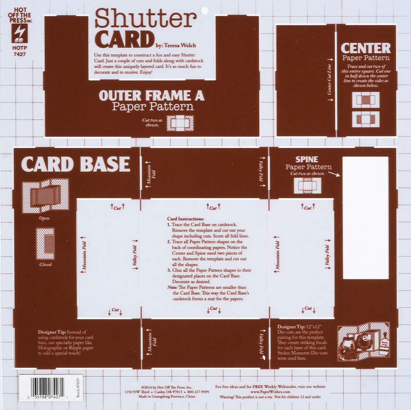 Shutter Card Template 4107427 Side Step Card Card Patterns Cards