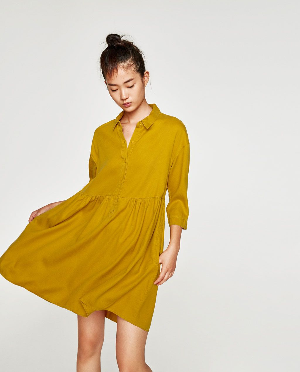 ae6ddde5 RUFFLED SHIRT DRESS - Available in more colours | hc | Ruffle shirt ...