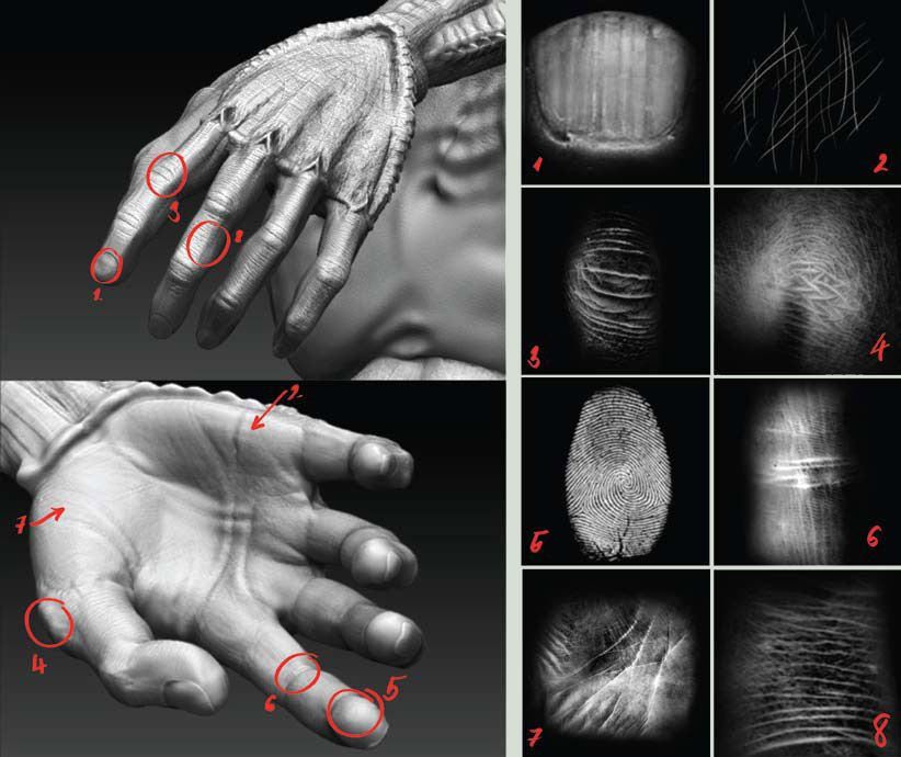 This is a ZBrush alpha set, created for detailing human skin
