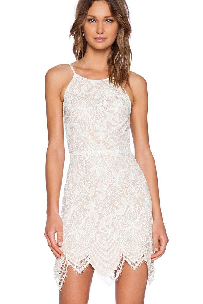 5782f510512 Off White Lace Backless Guava Mini Dress MB22140   Modest Summer ...