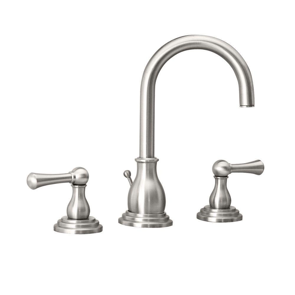 Gatco Marina Widespread Bathroom Faucet With Double Lever Handles