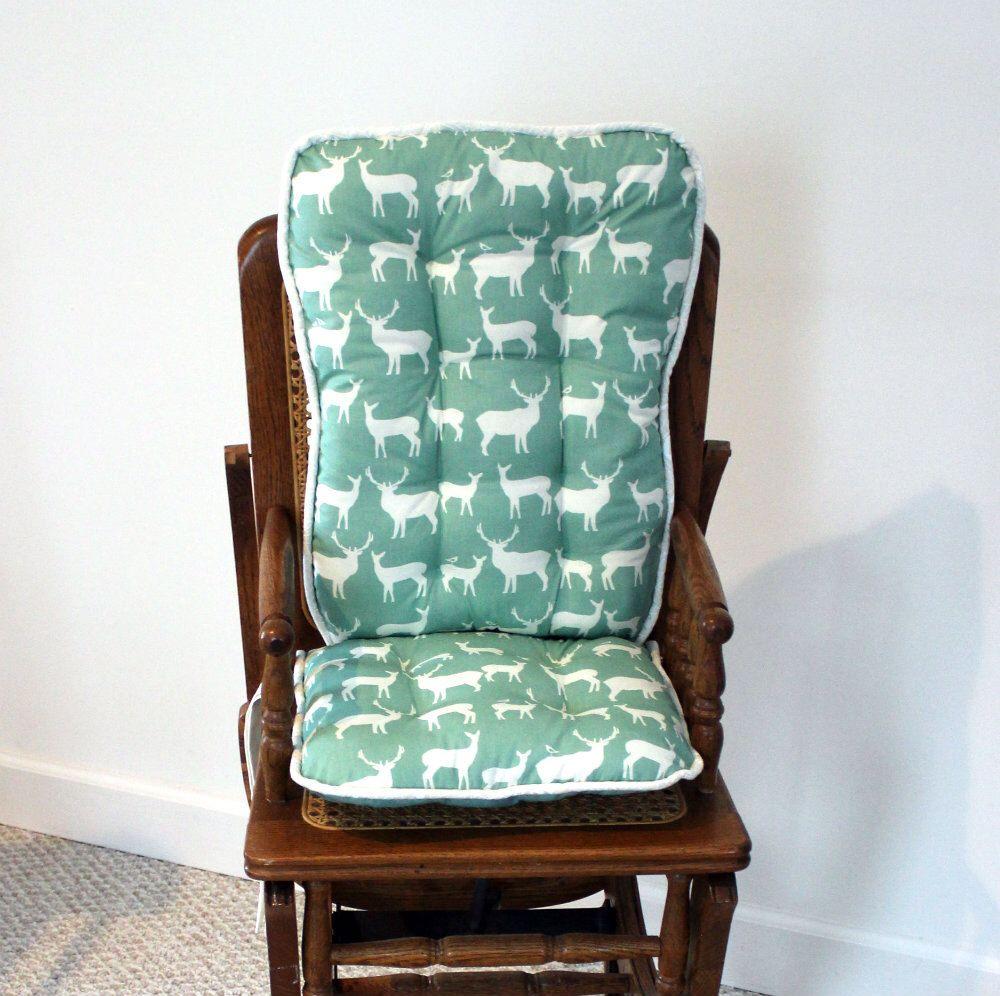 Birch organic elk family wooden high chair cushions