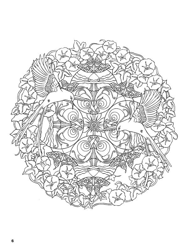 Nature Mandalas Coloring Book | Coloring Pages Mandalas | Coloring ...