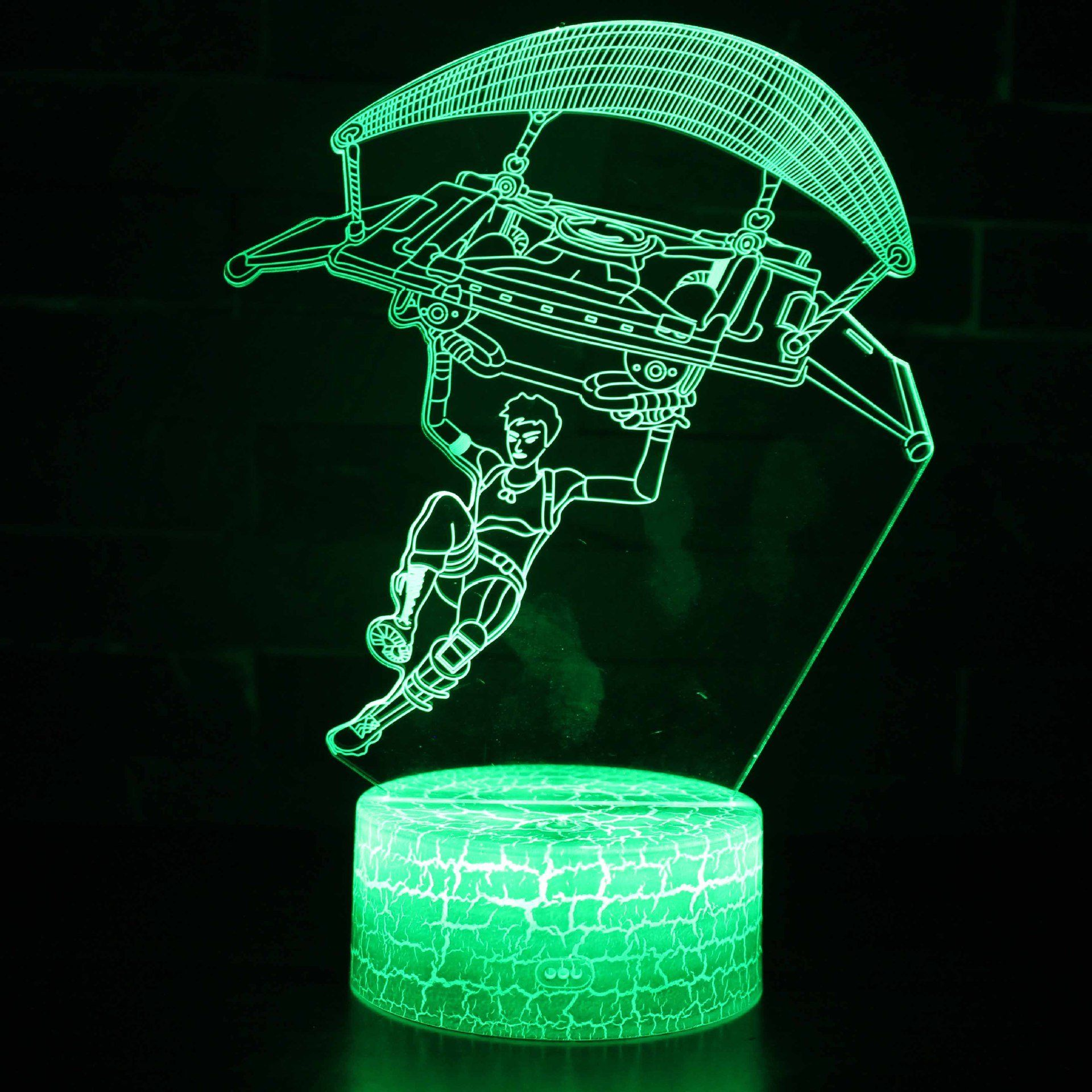 Fortnite 3d Illusion Lampe Nachtlicht Optische Taschung Lampe Schreibtischlampe Tischlampe Fur Kinder Geschenk Night Light Lamp Light