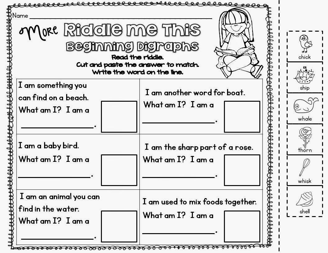 First Grade and Fabulous Riddle Me This Math riddles