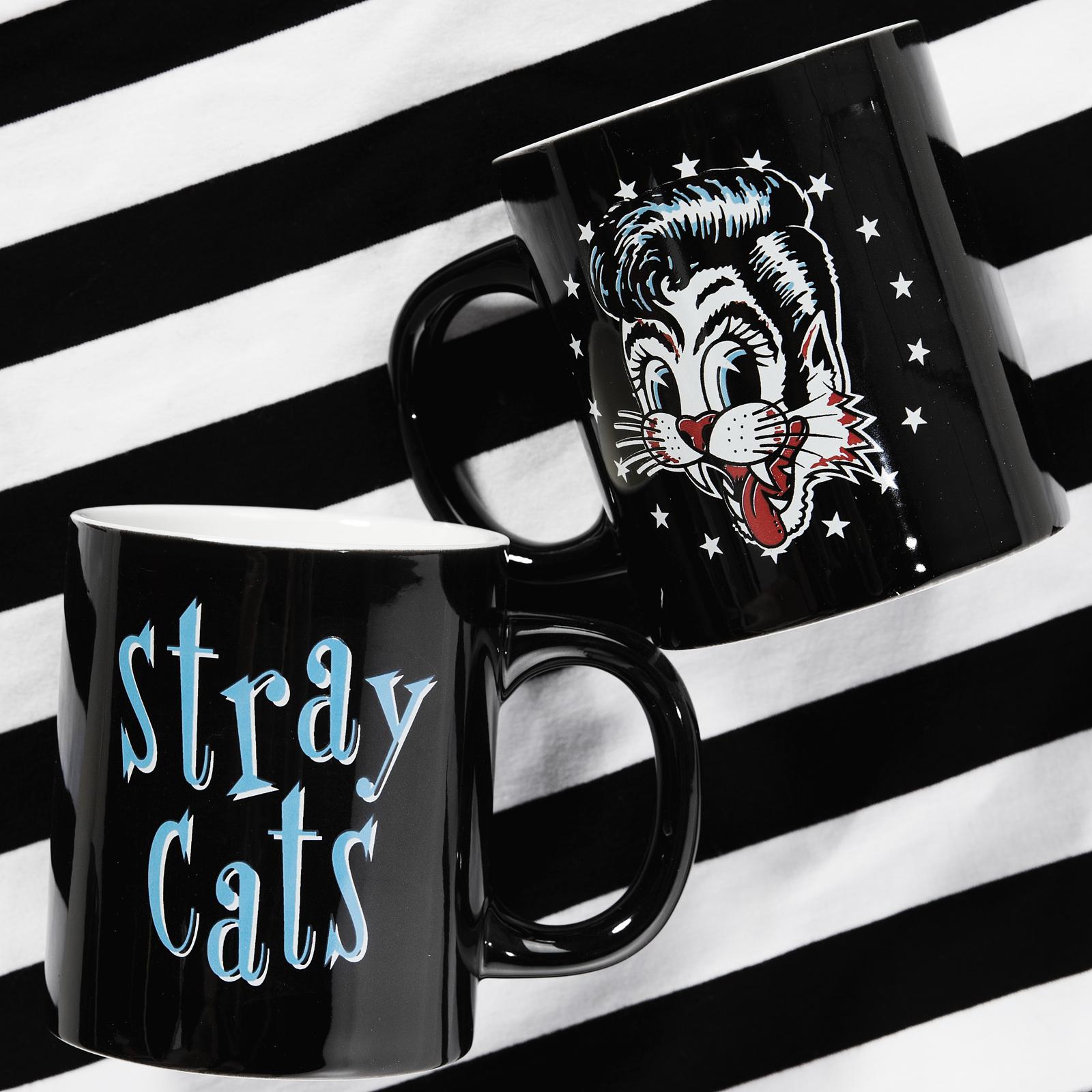 SOURPUSS STRAY CATS MUG BLACK sourpuss sourpussclothing
