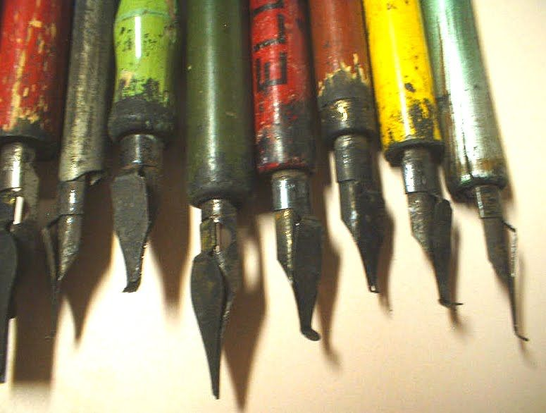 vintage calligraphy pens