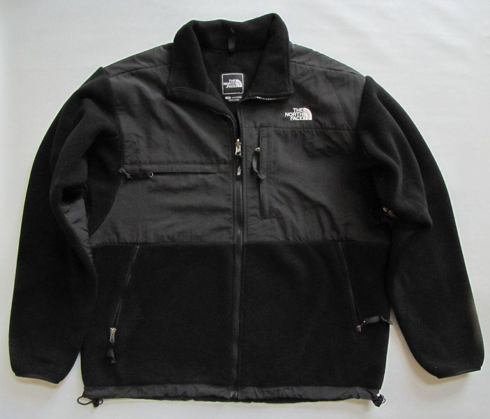 e66bf48ec The North Face Denali Mens Jacket Large Black Polartec Fleece Coat ...