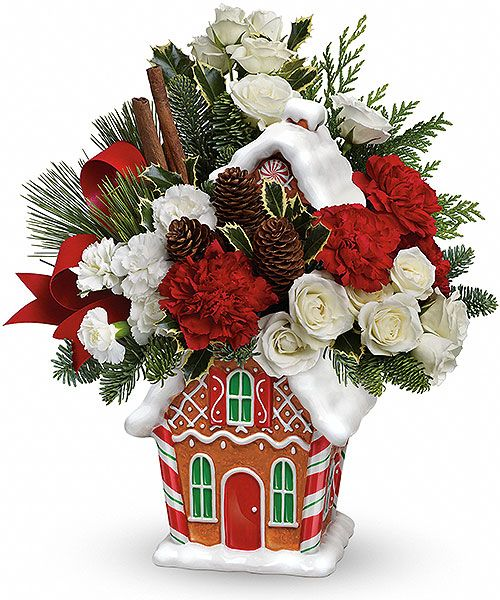 Teleflora's Gingerbread Cookie Jar - new for 2014 and now online at Canada Flowers for a limited time.