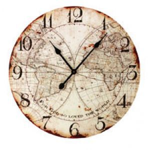 For God So Loved World Map Decorative Clock Item Ioclfg Metal Clo World Map Wall Old World Maps Clock