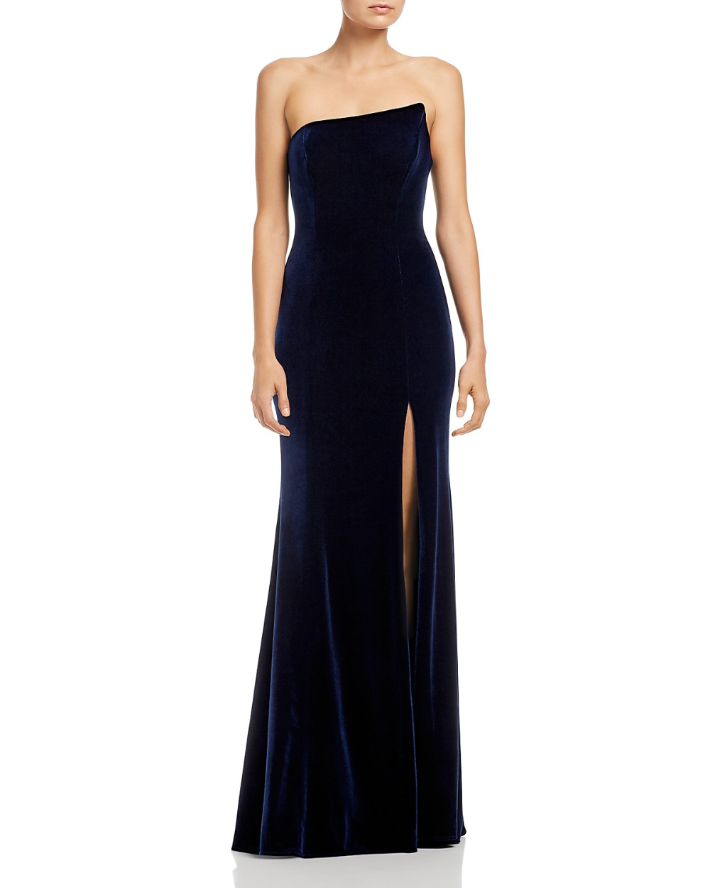 Aqua Asymmetric Strapless Velvet Gown 100 Exclusive Women Bloomingdale S Velvet Gown Elegant Dresses For Women Velvet Prom Dress [ 1250 x 1000 Pixel ]