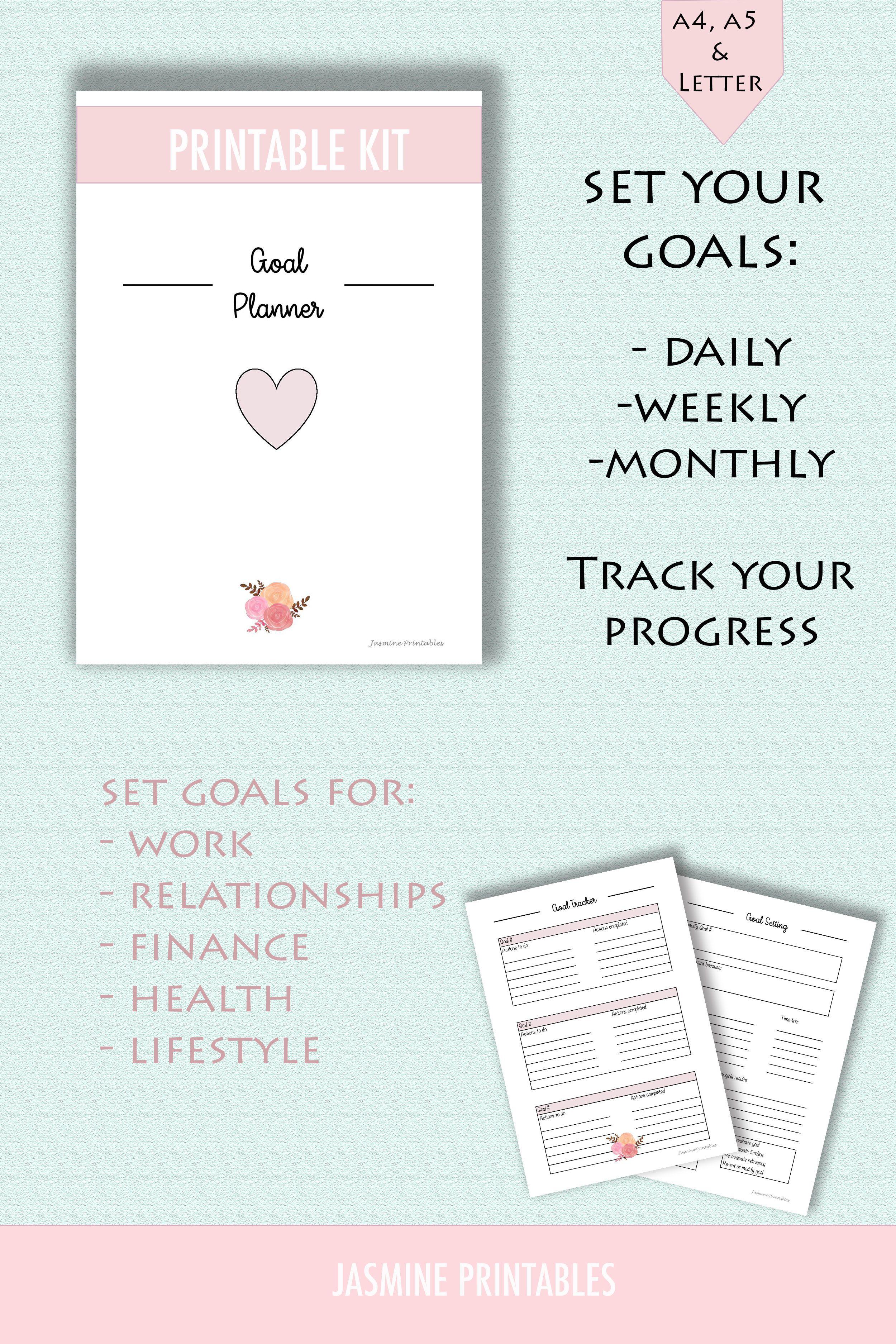 Goal Tracker Goal Planning Goal Setting Goal Planner