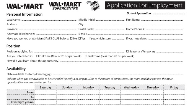 Walmart Online Job Application For Employment Online Job