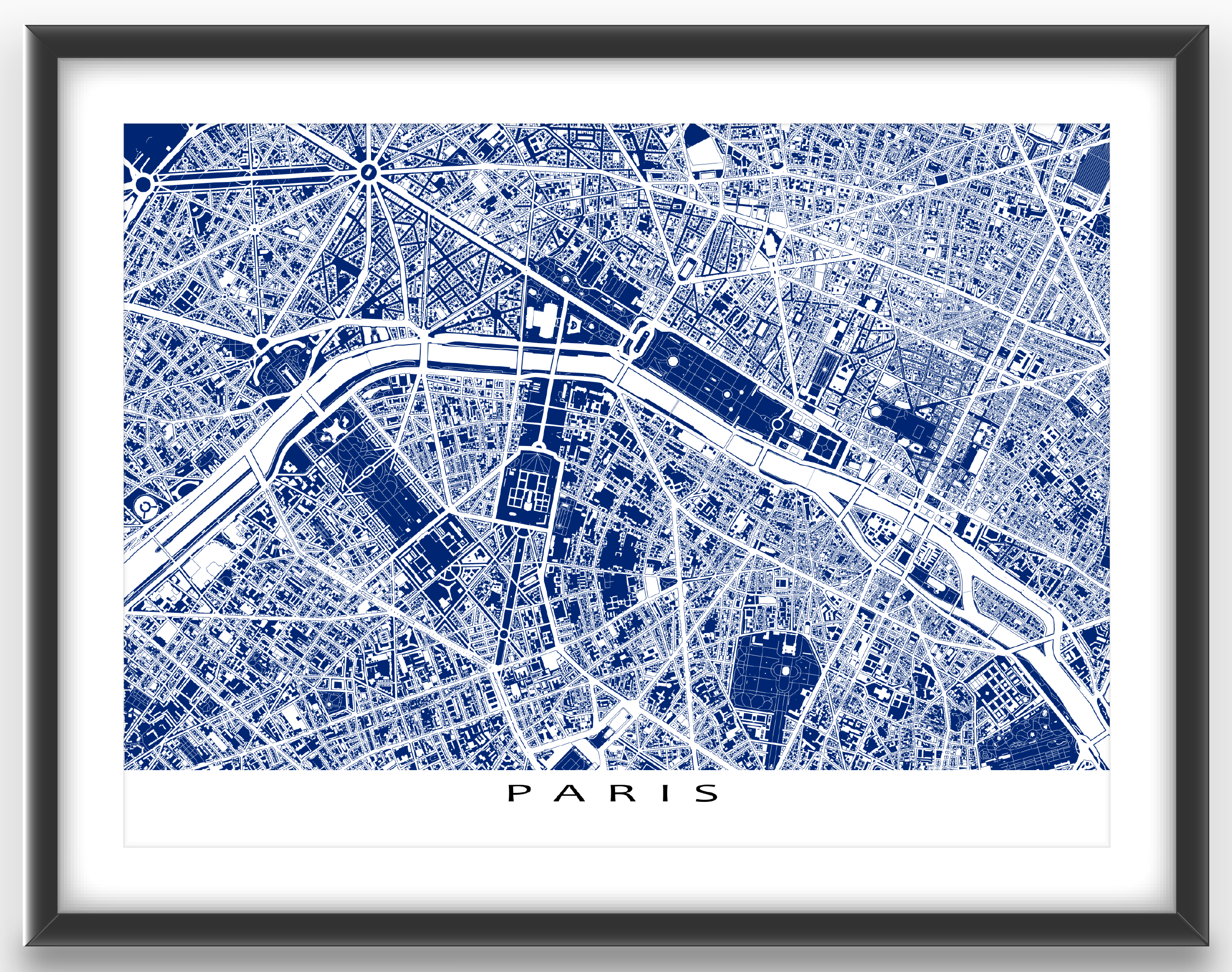 Paris map print featuring the beautiful and historic european city paris map print featuring the beautiful and historic european city of paris france find your favourite places on this blueprint style paris map malvernweather Image collections