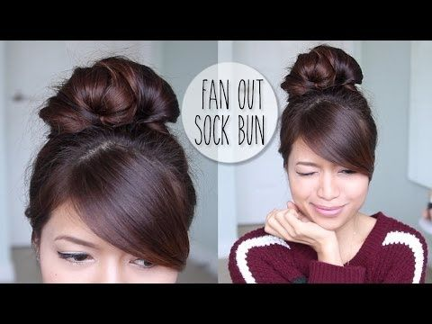 Everyday Fan Sock Bun Updo Long Hair Styles Casual Updos For Long Hair Long Hair Updo