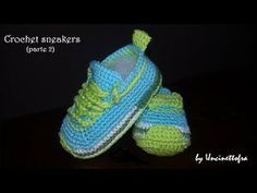 Scarpine Da Tennis Per Neonato Crochet Sneakers Tutorial Parte 2