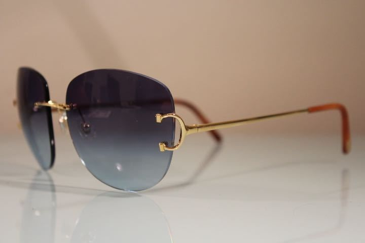 Cartier Paris Gold Rimless Sungles