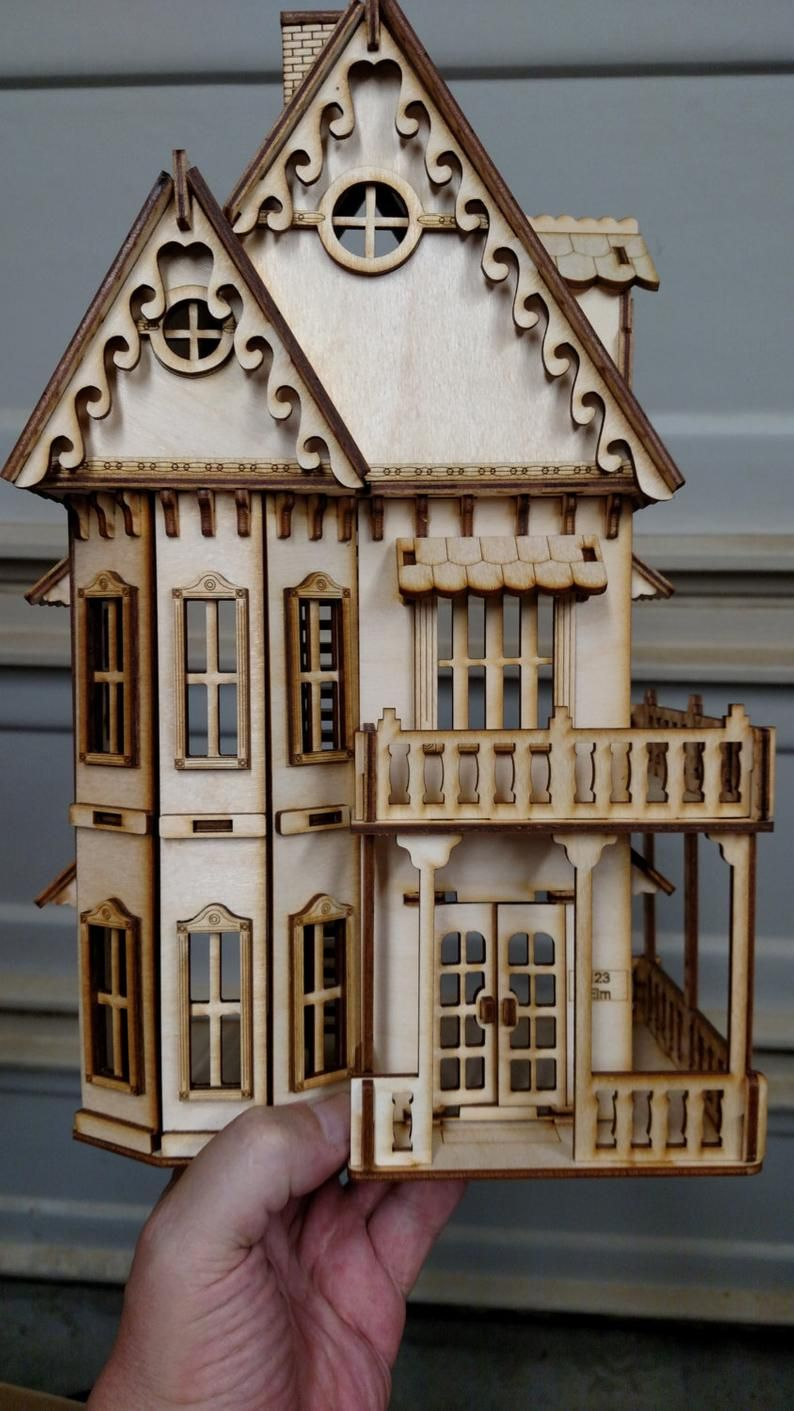 1/4 pollici scala vittoriano Gingerbread Dollhouse Kit