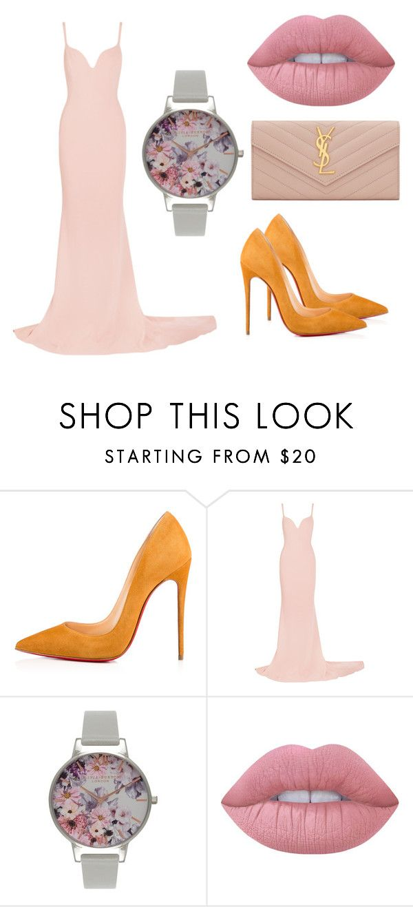 """Sans titre #262"" by estelle24 ❤ liked on Polyvore featuring Christian Louboutin, STELLA McCARTNEY, Olivia Burton, Lime Crime and Yves Saint Laurent"
