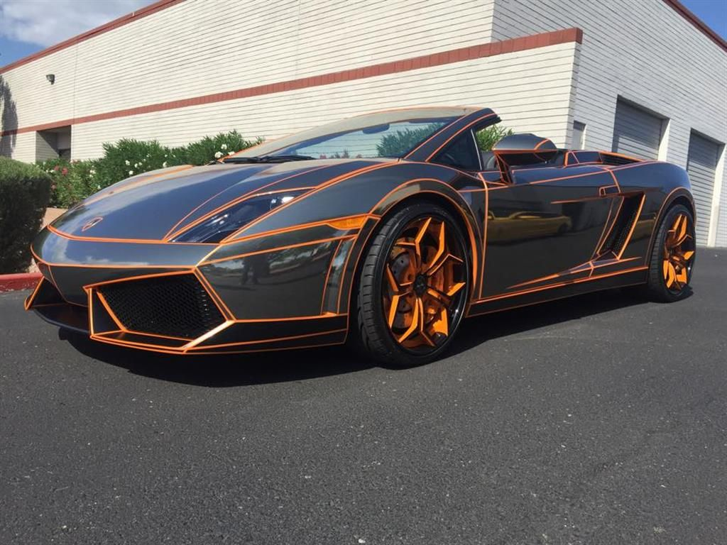 Black chrome lamborghini by signature graphics in scottsdale az click to view more photos and