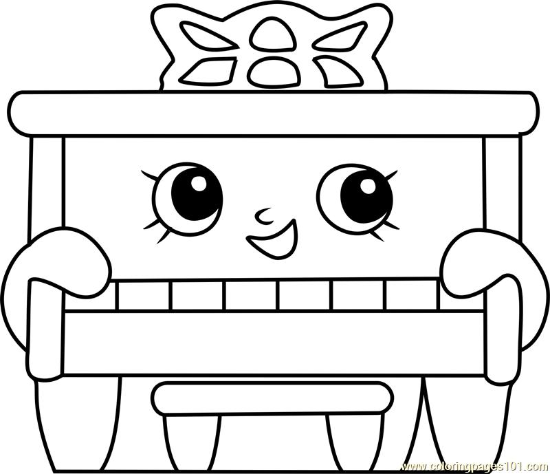 Piano Man Shopkins Coloring Page