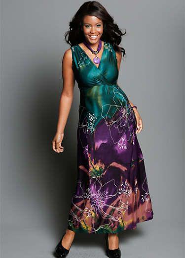 31bc1d5c15c44 Buy Floral Print Maxi Dress online at Curvissa | FASHIONABLE...Big ...