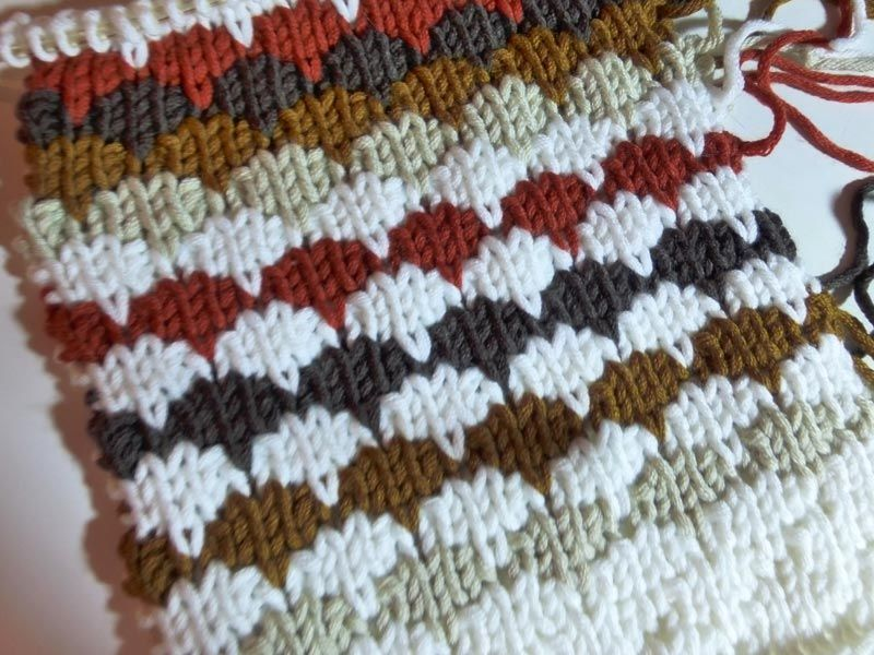 "How to Knit * Knitting Stitch ""Cobblestone"""