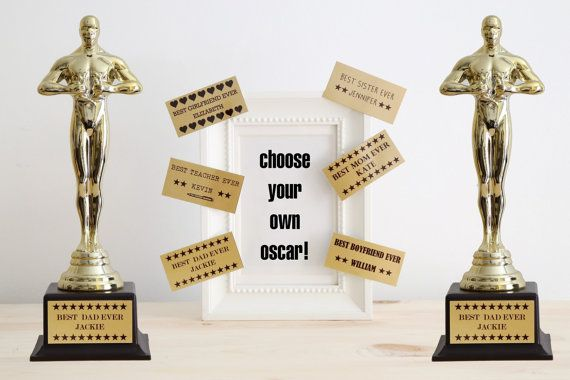 Best Dad Ever Trophy Custom Trophy Best Dad Ever Oscar Personalised Trophy Father Of The Year Award Statue A Custom Trophies Personalized Trophy Best Mom