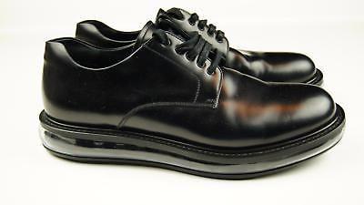 PRADA Levitate Air Mens Black Oxford Plain Toe Leather Shoes