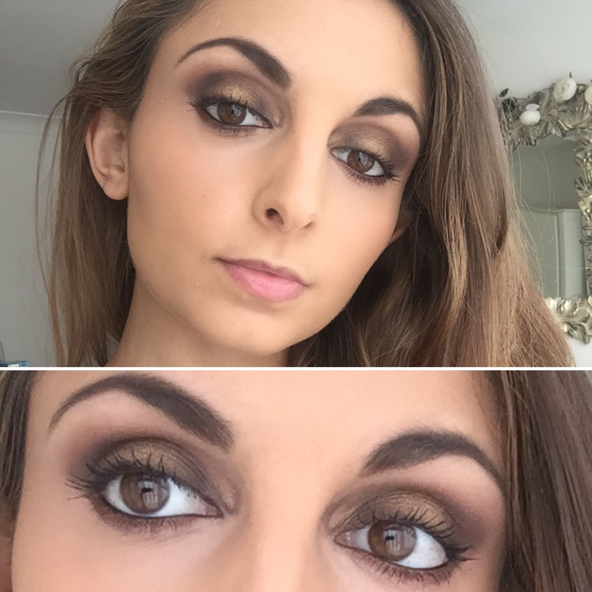 Brown smoky eye makeup Freelance makeup artist