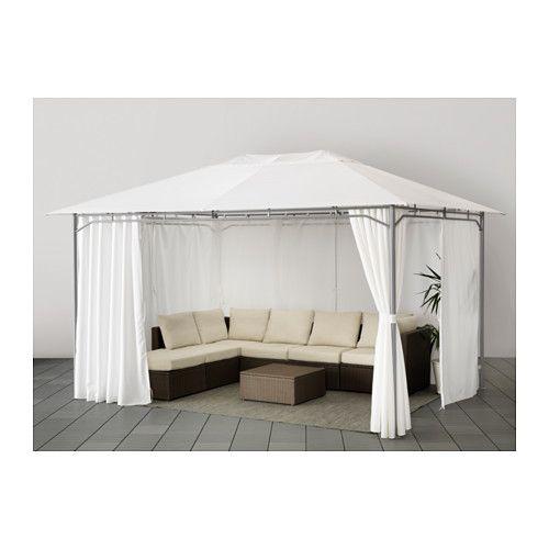 KARLSÖ Partytent met gordijnen, wit 300x400 cm wit - Home | Terrace ...