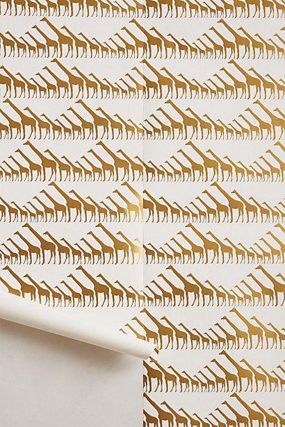 giraffe wallpaper in gold #wallpapers #gold