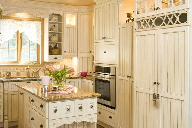 Armoires de cuisine de style champ tre l 39 lot et la - Cuisine champetre ...