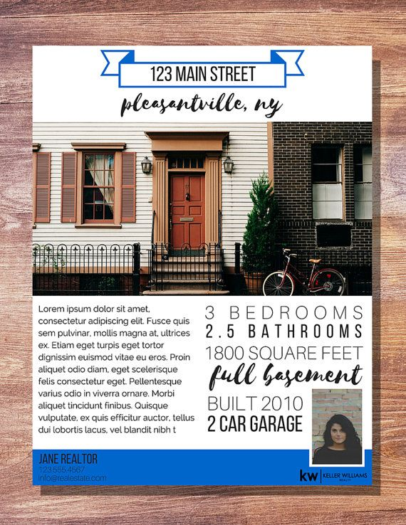 modern typography banner real estate for sale flyer 1 photo real